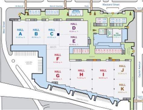 indiana convention center floor plan indiana convention center map indiana map