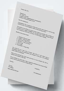 Appointment Letter Pdf In India sle offer letter of employment india appointment