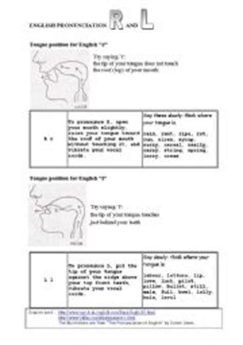 L Pronunciation by L And R Pronunciation