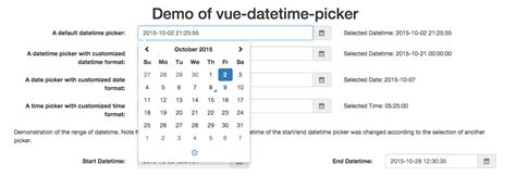 date format in javascript with timezone vue js date time picker component vue js script