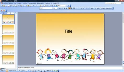 free powerpoint templates children free children powerpoint template