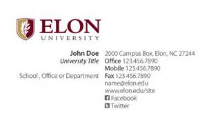 titles on business cards exles elon faculty staff business cards