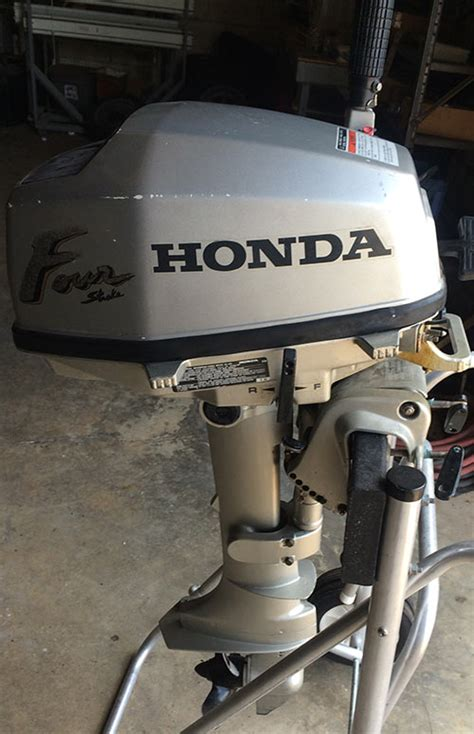 Sold Honda 5 Hp Outboard Boat Motor For Sale