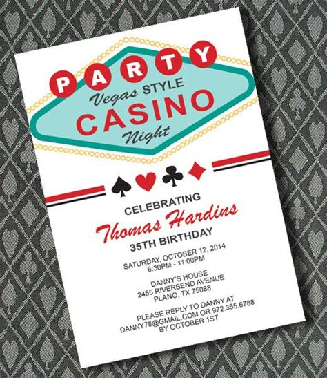 casino birthday card template diy vegas casino invitation template from
