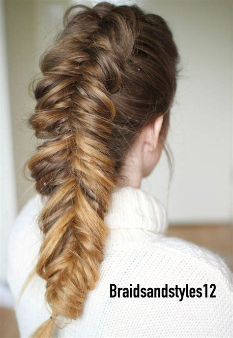 dutch fishtail braid ideas  pinterest fishtail plait tutorial french braiding hair