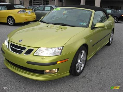 2006 lime yellow saab 9 3 aero convertible 6733649 photo