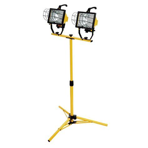 halogen l with stand southwire 1000 watt halogen telescoping twin head tripod