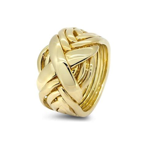 mens gold 8rx m puzzle rings creations