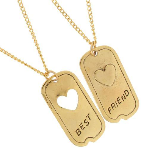 pendant bff necklace set friendship 1 quot tag best