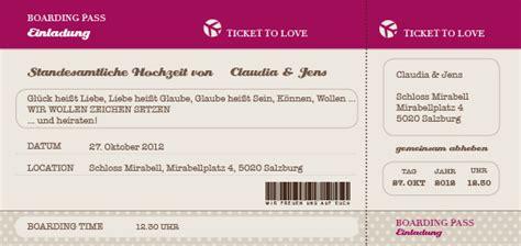 Hochzeitseinladung Flugticket Vorlage by Flugticket Hochzeitseinladung Ticket To