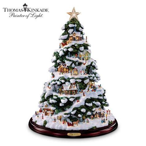 thomas kinkade harbor christmas tree kinkade artificial tabletop tree by the bradford exchange