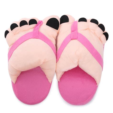 plush house slippers warm plush big toe indoor house slippers in random color sammydress com
