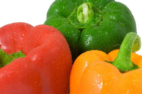 colored peppers peppers free stock photo close up of three colored