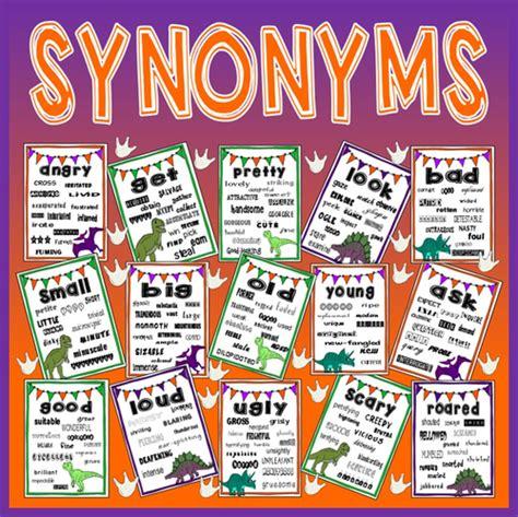 theme synonym english synonyms vocabulary posters display eyfs ks1 2 literacy
