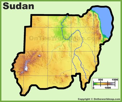 map of sudan sudan physical map