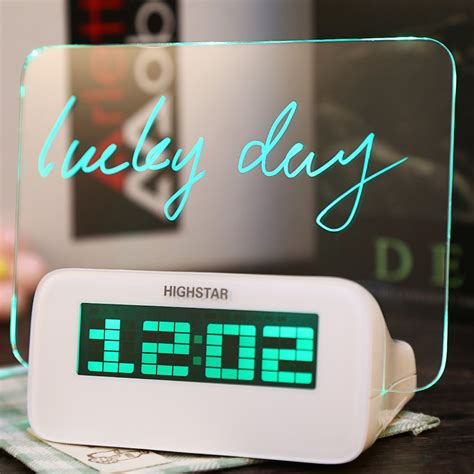 Jam Alarm Lcd Display Alarm Clock With Memo Board jam unik memo board digital alarm clock