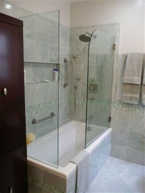 Half Shower Door by Hinged Half Shower Door For The Home