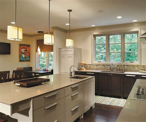quarter sawn oak cabinets kitchen monterey cabinet door style omega cabinetry