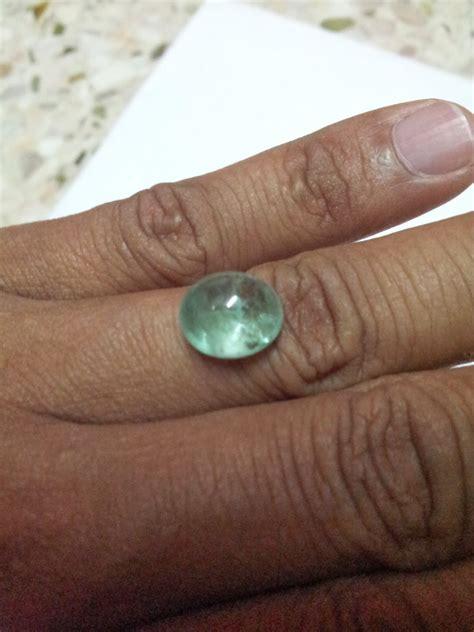 Sg M Ananda Tahap 2 6 12 Bulan 1000g cincin batu permata asli zamrud colombia air kaca