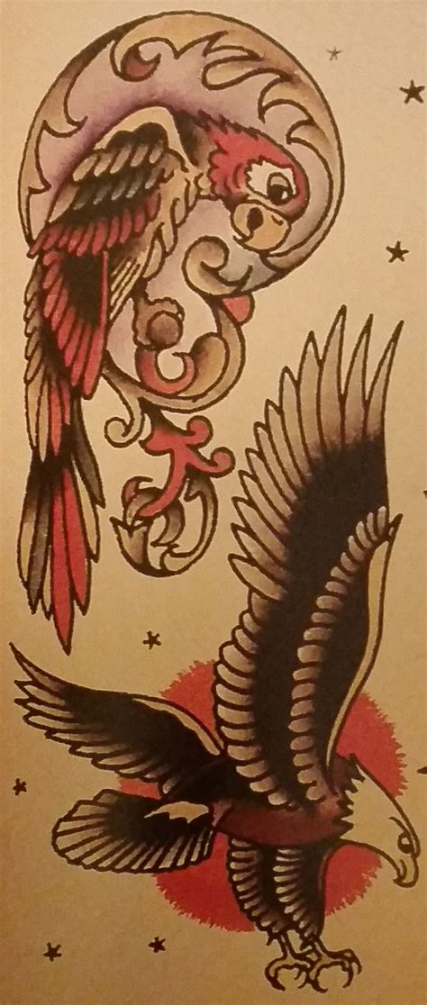 sailor jerry eagle tattoo traditional school sailor jerry parrot eagle