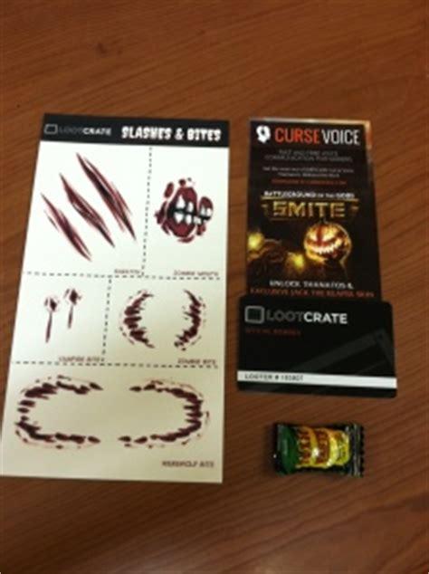 Smite Gift Card - october quot fear quot loot crate review popvinyls com