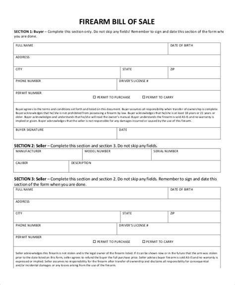 gun receipt template gun bill of sale form free alabama gunfirearm bill of