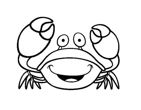 Velvet Crab Coloring Page Coloringcrew Com Crab Colouring Pages