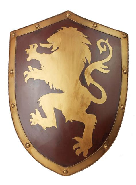 Home Decor Items For Sale by Pure Manual Made Medieval Knight Shield Lannister Lion