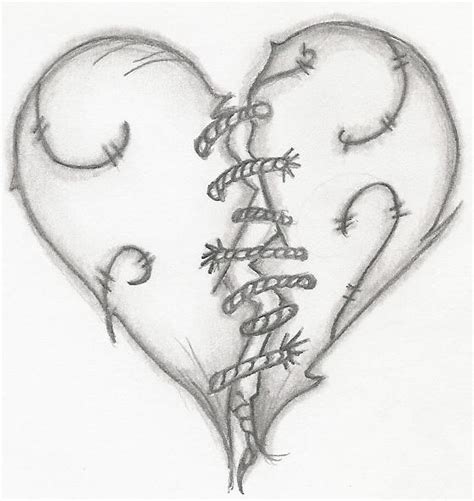 stitched heart tattoo designs stitched by emokid711 on deviantart