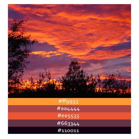 sunset colors color palette ideas sunset color palette bing images i do ideas
