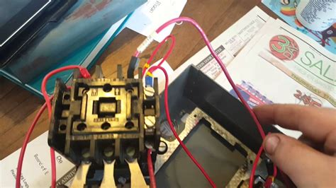 Start Stop 3 Phase Motor Starter Wiring   YouTube