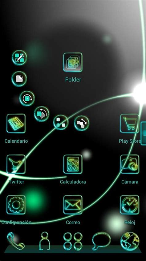 next launcher themes latest glow next launcher 3d theme android apps on google play