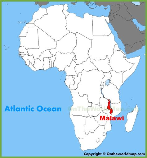 malawi map malawi location on the africa map
