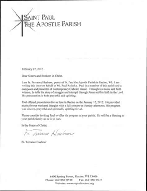 touching up letter reference letters paul koleske catholic speaking