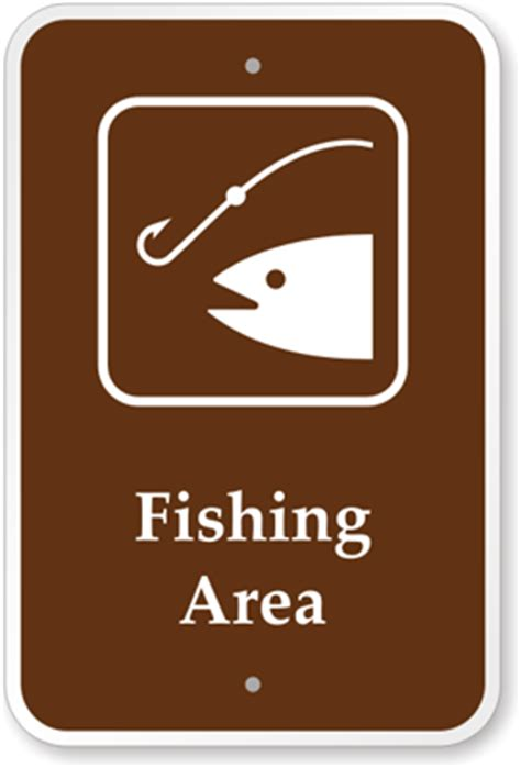the color of a recreation area sign is fishing area sign cground sign park sign guide