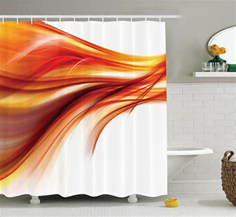orange shower curtain hooks orange shower curtain set abstract home decor by ambesonne