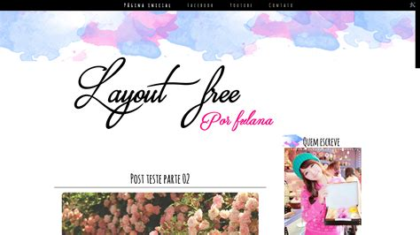 layout para blog gratuito layout free exclusivo para download aquarela blue