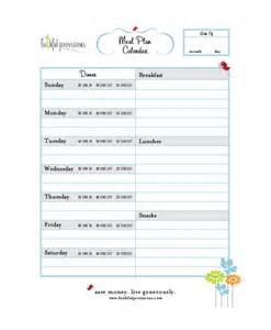 Home Menu Template by Menu Calendar Templates 10 Printable Pdf Documents