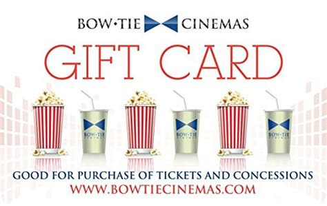 Bow Tie Cinemas Gift Card - amazon com bow tie cinemas gift cards e mail delivery gift cards