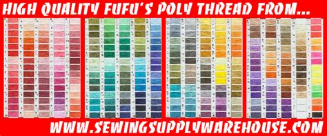 floriani embroidery thread chart w actual thread