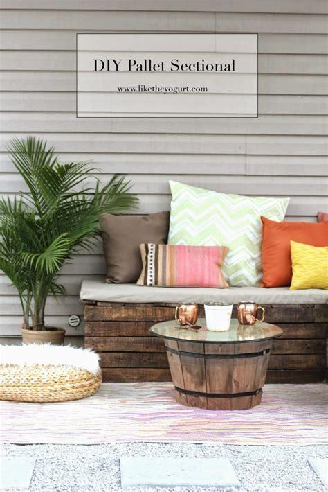 diy pallet sectional  outdoor furniture   yogurt