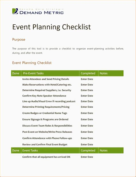 7 Church Event Planning Checklist Template Sletemplatess Sletemplatess Church Event Planning Checklist Template