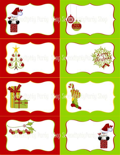 printable sheet of christmas tags 8 best images of christmas rectangle printable free