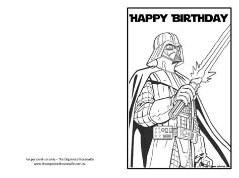 Wars Greeting Card Template by Free Printable Birthday Cards The Organised