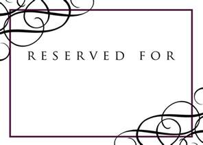 Table Reservation Card Template by Reserved Sign Template Pictures To Pin On