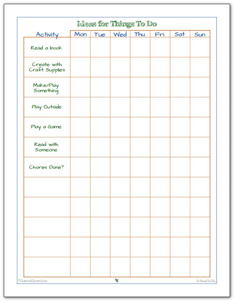 printable child to do list keeping the kids busy with kid friendly to do lists