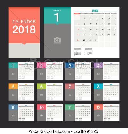 modern desk calendar 2018 calendar desk calendar modern design template 2018