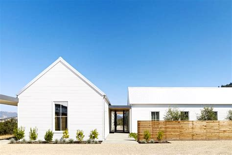 modern farmhouse exterior farmhouse with gravel driveway a heavenly home in wine country gravel driveway metal