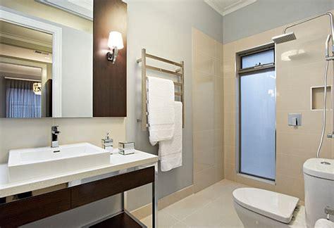 Modern Bathroom Towel Rack Modern Towel Rack In A Contemporary Bathroom Decoist