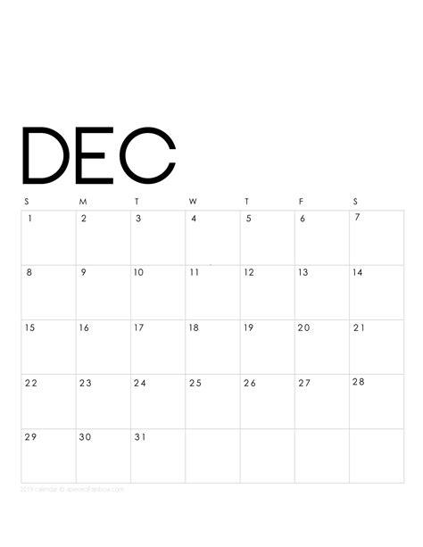 printable december  calendar monthly planner